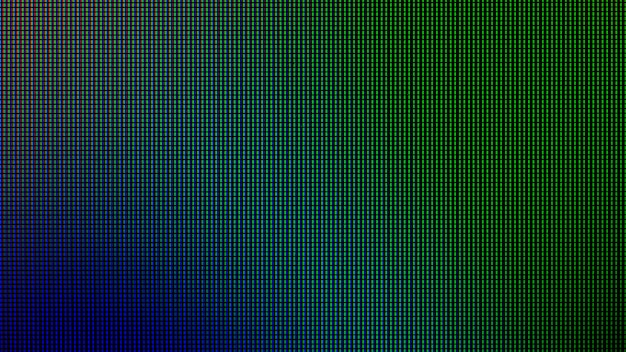 Led lights from led computer monitor screen display panel. Premium Photo