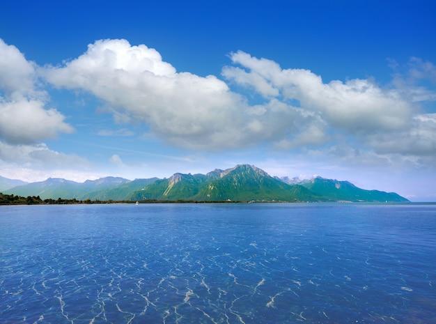 Leman geneva lake in switzerland Premium Photo