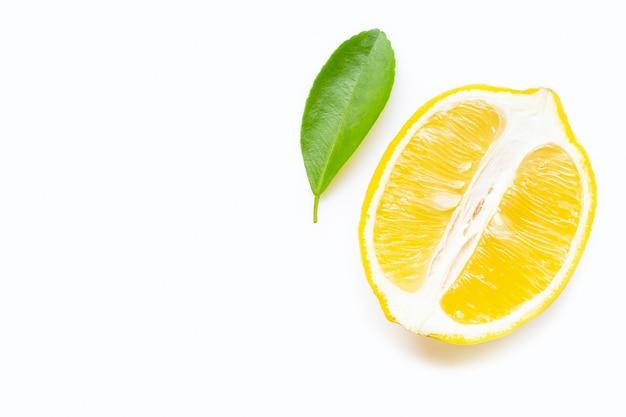 Lemon  isolated on white background. Premium Photo