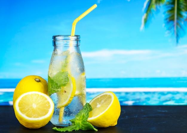 Lemon mint infused water recipe