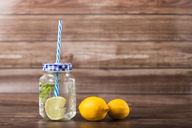 Lemonade in jar Free Photo