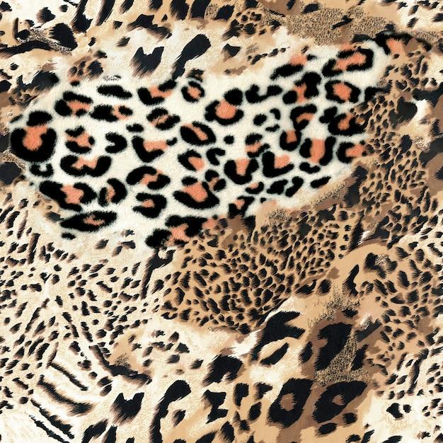 Leopard seamless background Premium Photo