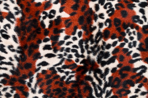 Leopard skin pattern background Premium Photo