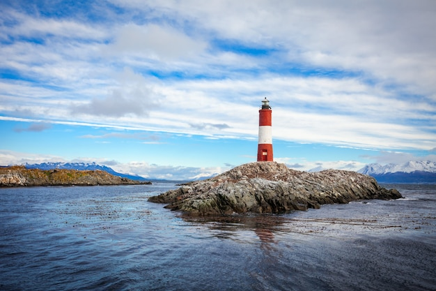 Les eclaireurs lighthouse, ушуайя Premium Фотографии