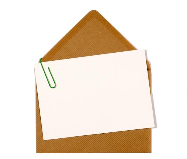 Carta lettera con busta marrone Foto Gratuite