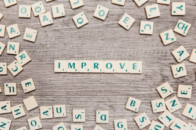 Letters forming the word imrpove Free Photo