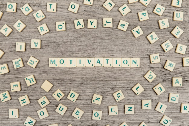 Letters forming the word motivation Free Photo
