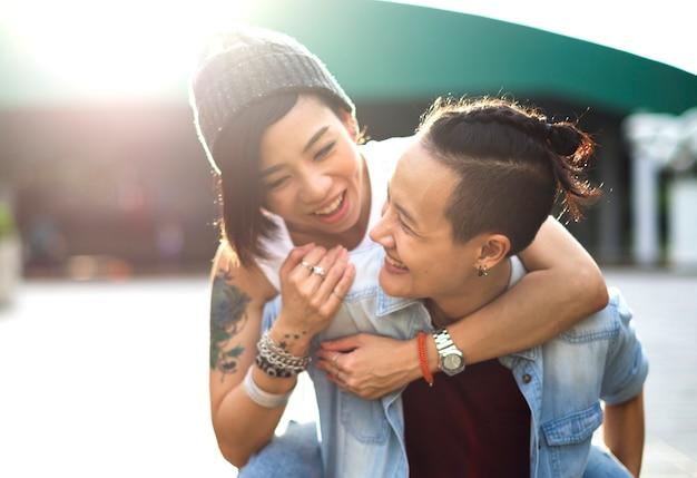 BBW Ebony lesbische video
