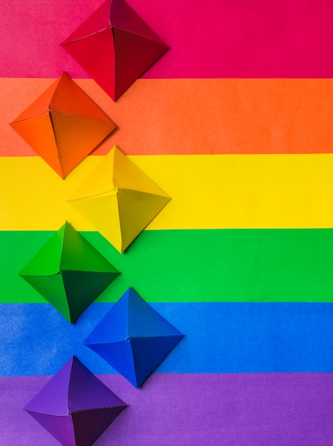 Lgbt colors and paper origami Free Photo