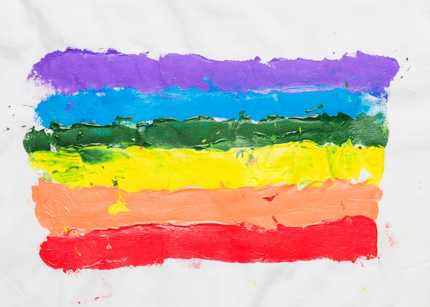 Lgbt flag drawn by hand Free Photo