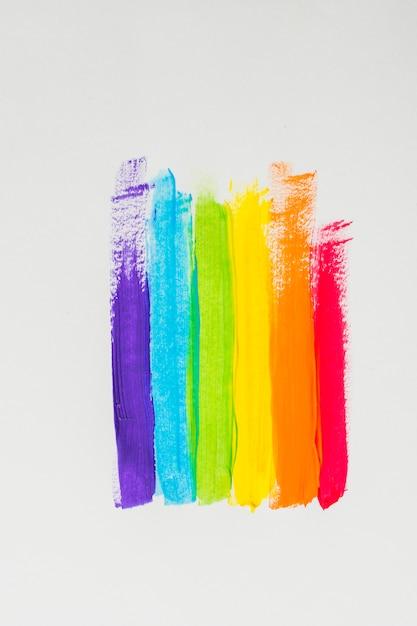 カラフルなlgbtカラーの染料ストローク 無料写真