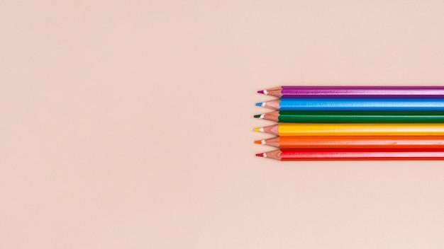 木製色鉛筆lgbt 無料写真