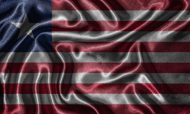 Liberia flag - fabric flag of liberia country, background of