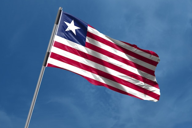 Liberia flag waving Photo | Premium Download