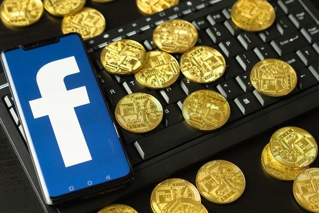 Libraと呼ばれるfacebookの新しい電子通貨。 Premium写真