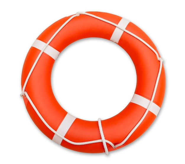 Lifeguard, isolated on white Premium Photo