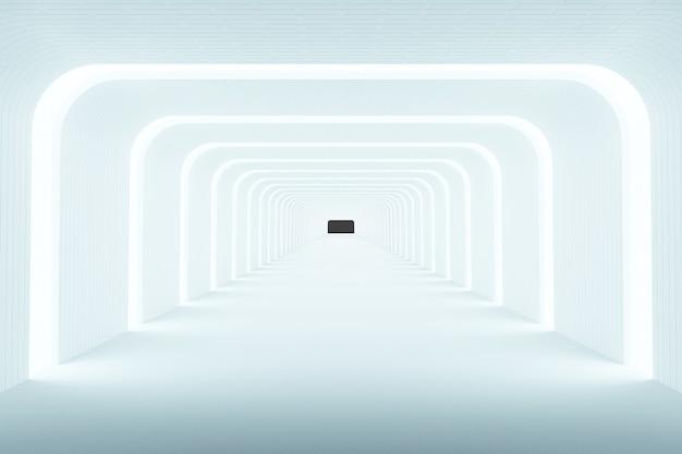 Light background abstract background, modern design, 3d rendering Premium Photo