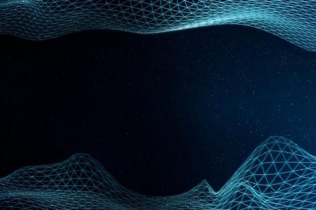 라이트 블루 3d 추상 웨이브 패턴 무료 사진
