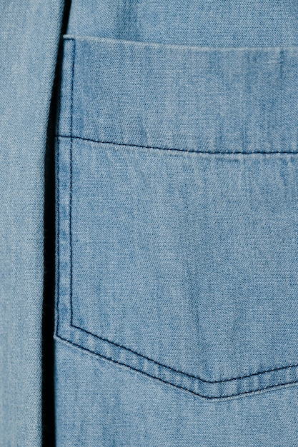 Light blue denim pocket close up Free Photo