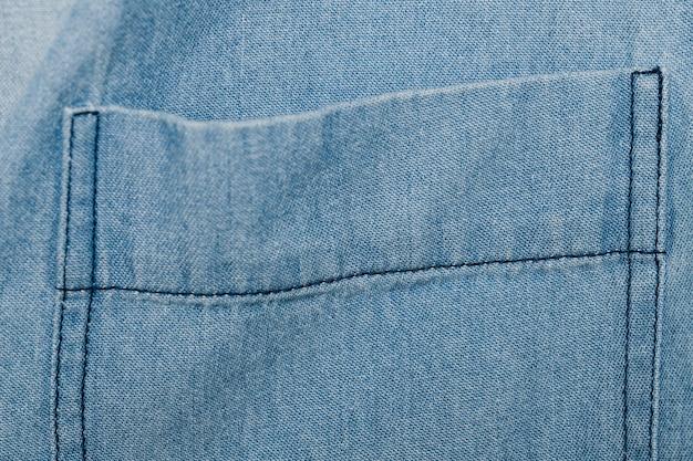 Light blue denim pocket Free Photo