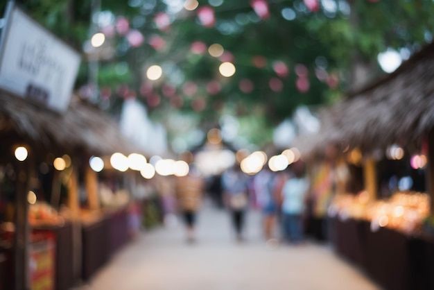 Легкое боке в память о прапатоне лонклао фестиваль короля рамы v Premium Фотографии