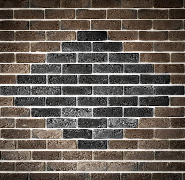 Muro di mattoni marrone chiaro con motivo, back-phonons creativi, primo piano, posto per il testo Foto Gratuite