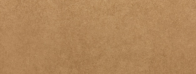 Light brown kraft paper texture banner background Premium Photo