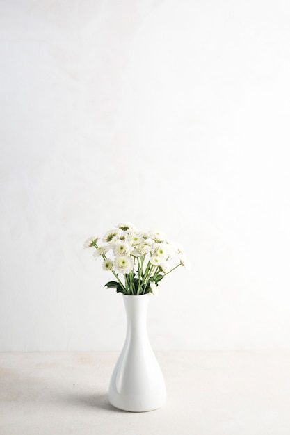 Light flowers in vase on table Free Photo & Light flowers in vase on table Photo | Free Download
