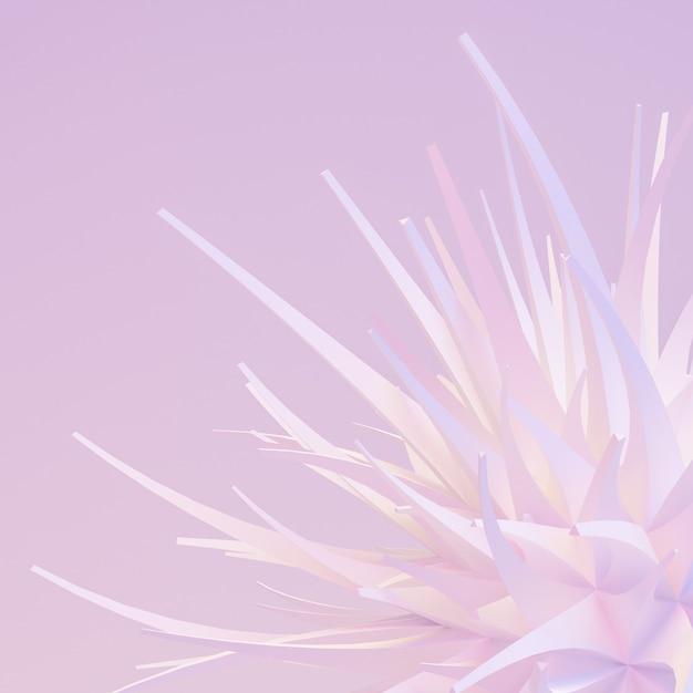 Легкий, нежный абстрактный фон 3d рендеринга Premium Фотографии