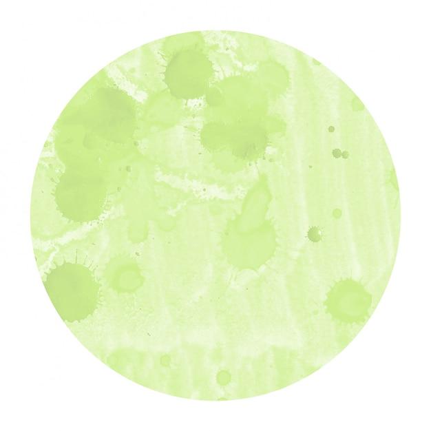Light green hand drawn watercolor circle Premium Photo
