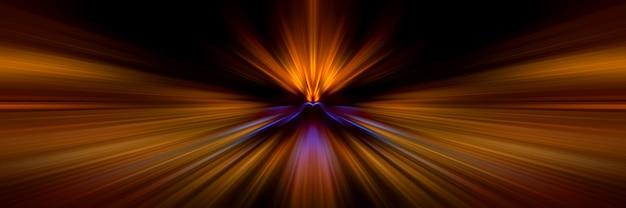 Светлые линии движения в перспективе Premium Фотографии