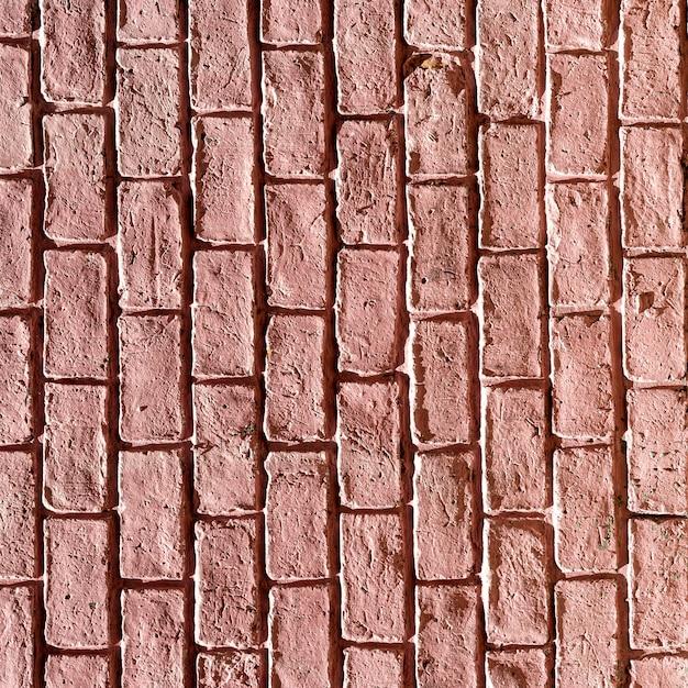 明るい赤のコピースペースレンガの壁の背景 無料写真