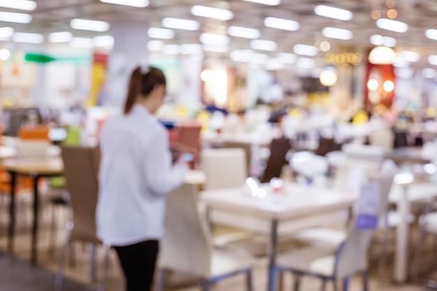 가구, 흐린 초점이있는 가벼운 가게 프리미엄 사진