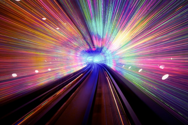 Light tunnel background Free Photo