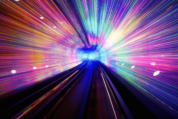 Light tunnel background Free Photo
