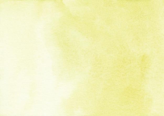 薄黄色の水彩表面の背景 Premium写真