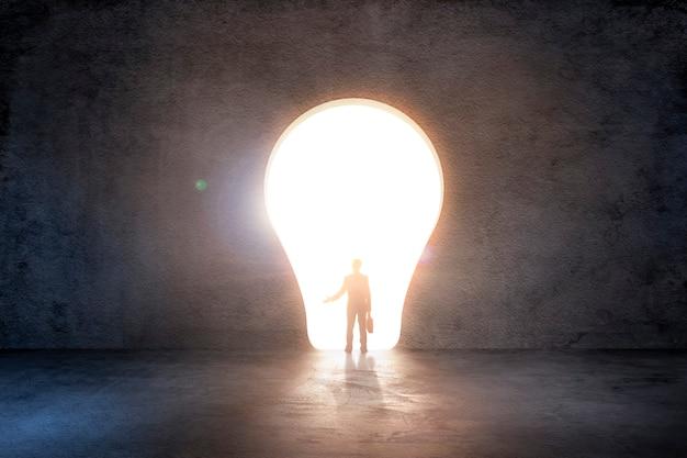 Lightbulb door Premium Photo