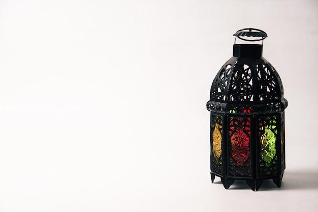 Lightened lantern style arab or morocco Premium Photo