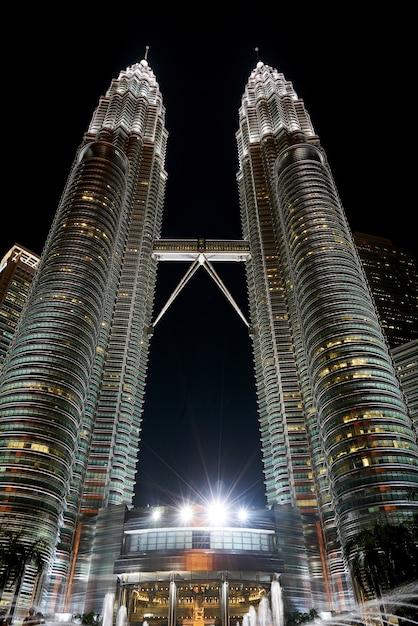 Lights Klcc Kuala Lumpur Building Malaysia Photo Free Download