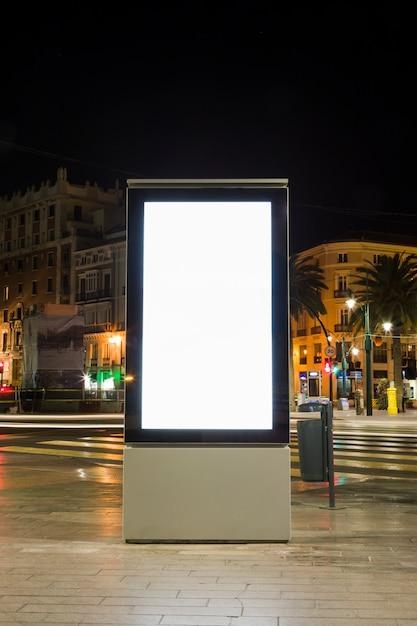 Lights of night city Free Photo