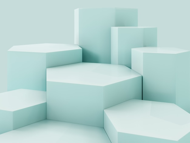Lihgt green  product display podium, abstract  background Premium Photo
