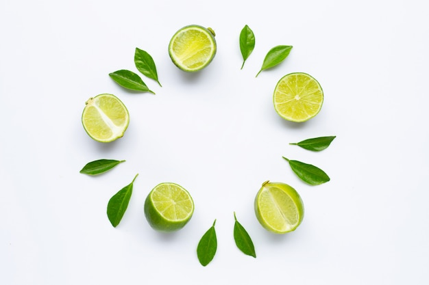 Limes with leaves Premium Photo