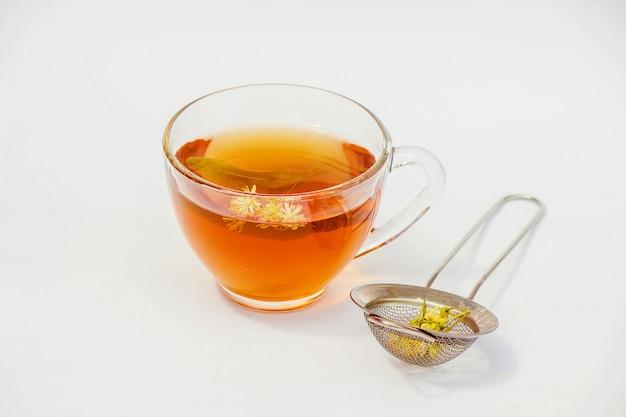 Linden. linden tea. selective focus nature tea drinks Premium Photo