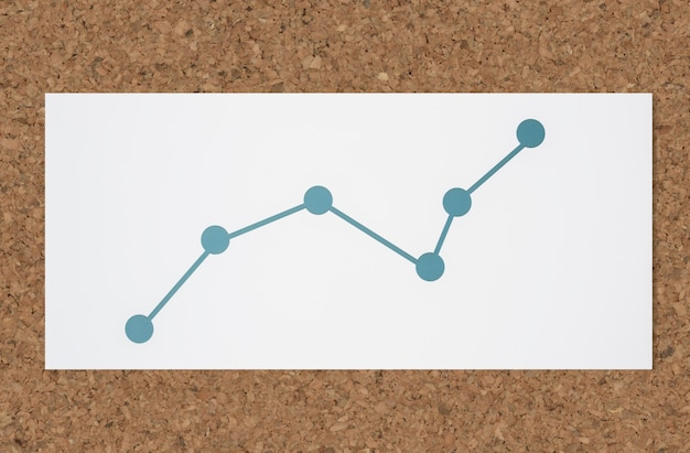 Line graph data analysis icon Free Photo