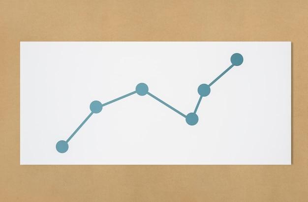 Line graph data analysis icon Free Photo