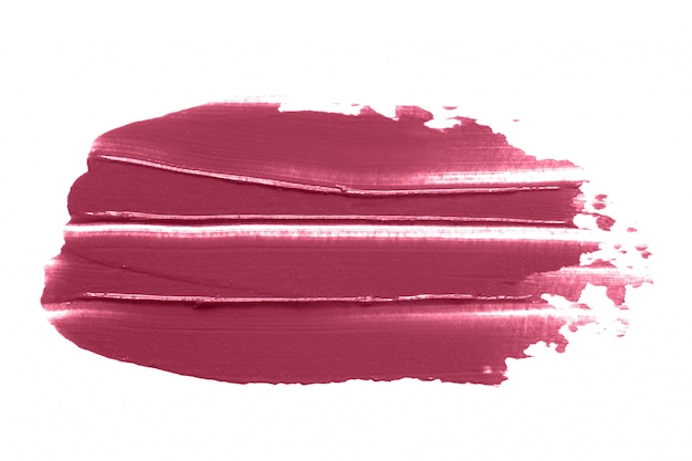 Lipstick smudge isolated on white Premium Photo