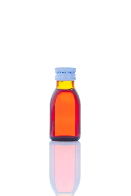 Liquid drug syrup in bottle Premium Photo