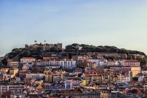 ポルトガルのセントジョージビューのリスボン要塞 Premium写真
