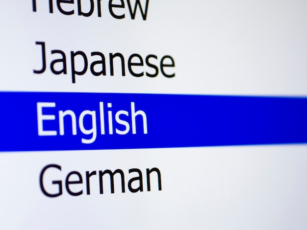 List of languages in mobile app Free Photo