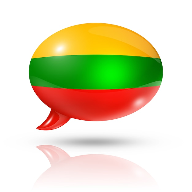 Lithuanian flag speech bubble Premium Photo